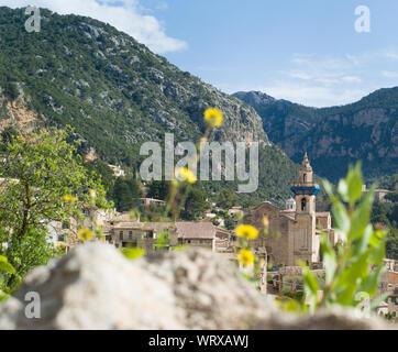 Parish of Saint Bartholomew in Valldemossa on Mallorca island - Stock Photo