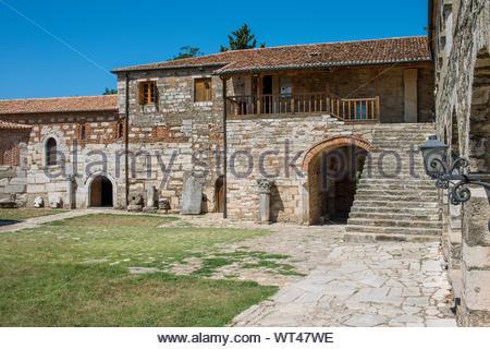 monastery of Santa Maria or Shen Meri, Apollonia, Albania - Stock Photo