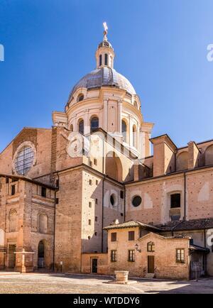 Basilica Sant'Andrea in Piazza Leon Battista Alberti, Mantua, Lombardy, Italy - Stock Photo