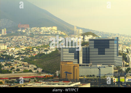 View of Hospital immersed in the city in Monterrey Mexico - Stock Photo
