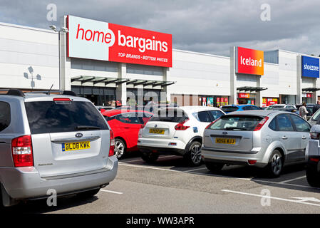 Skippingdale Retail Park, Scunthorpe, Noth Lincolnshire, England UK - Stock Photo