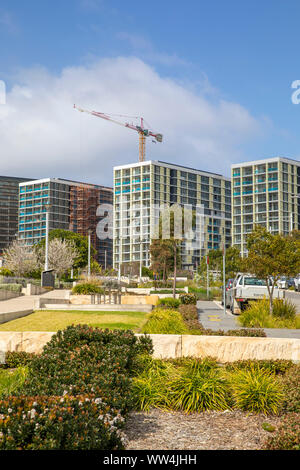 High rise residential units and apartments newly built in Macquarie Park Ryde in Sydney,New South Wales,Australia - Stock Photo