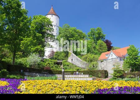 Gigelturm, Biberach an der Riss, Upper Swabia, Baden-Wuerttemberg, Germany - Stock Photo
