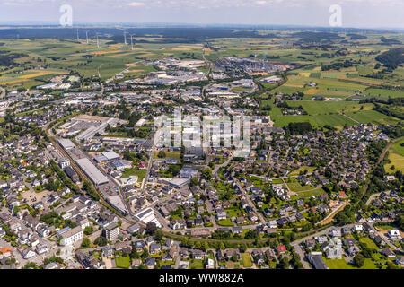 Brilon center eastern part, Brilon, Sauerland, North Rhine-Westphalia, Germany - Stock Photo