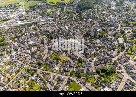 Overview of Brilon Center, Brilon, Sauerland, North Rhine-Westphalia, Germany - Stock Photo