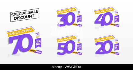 bundle element sale banner design, title flyer or poster, on season sale promotion, new arrival product or service, more option discount. Vector illus - Stock Photo