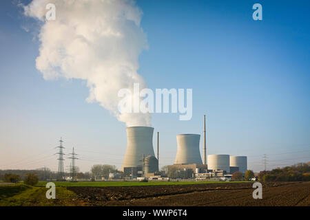An image of the nuclear power plant in Gundremmingen Germany - Stock Photo