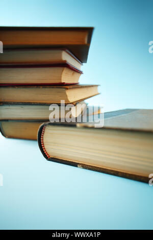 Books. Strange depth-of-field due to the use of a tilt/shift lens. - Stock Photo