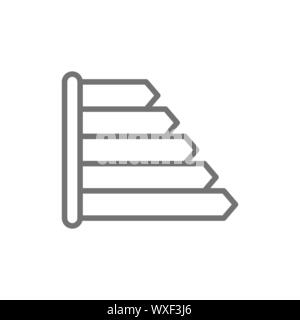Energy label for refrigerator, energy efficiency classes line icon. - Stock Photo