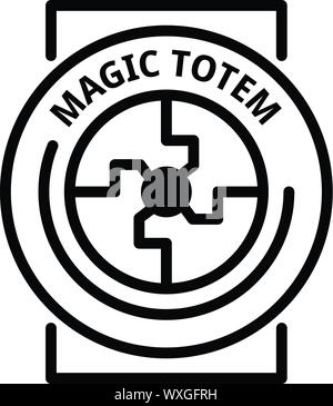 Magic totem icon. Outline magic totem vector icon for web design isolated on white background - Stock Photo