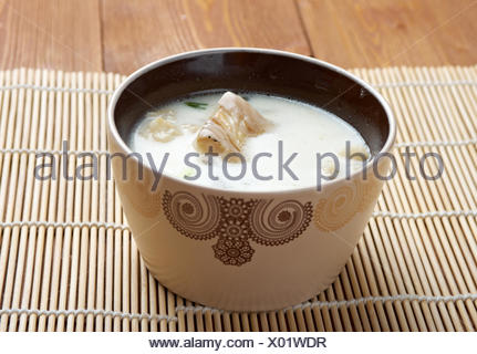 New England clam chowde - Stock Photo
