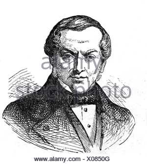 Rothschild, Jakob, 15.5.1792 - 15.11.1868, German banker, engraving, 19th century, James Mayer de Rothschild, founder of Rothschild Freres in Paris 1812, businessman, France, , Additional-Rights-Clearances-NA - Stock Photo