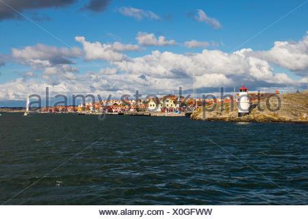 sailing at mollösund at swedish skerry coast north of gothenburg, bohuslän, västra götalands län, sweden / segeln in mollösund an der schärenküste nör - Stock Photo