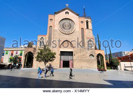 Church of San Esteban, Sant Esteve, the largest temple of Granollers, province of Barcelona located in the center of the municipality. Is necessary - Stock Photo