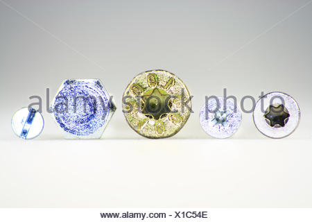 Typs of screws - Stock Photo