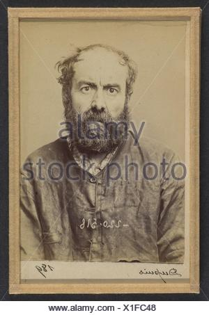 Dupuis. Augustin. 53 ans, né le 24/6/41 à Dourdan (Seine & Oise). Charron, forgeron. Anarchiste. 3/7/94. Artist: Alphonse Bertillon (French, - Stock Photo