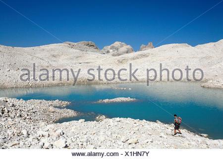 Trentino Alto Adige, Fradusta lake on the Pale di San Martino plateau, Italy - Stock Photo