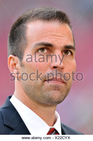Markus Babbel, manager and coach of VfB Stuttgart, looking sceptical - Stock Photo
