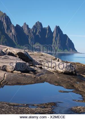 Erstfjord, Senja Island, Norway - Stock Photo