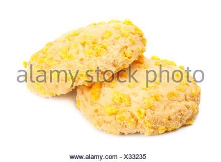 Homemade Cookies With Cornflake Chips - Stock Photo