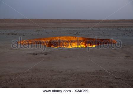 Darvaza Gas Crater - Stock Photo