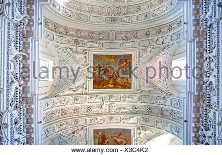 fine arts, stucco, church of St. Peter and St. Paul, built: 1668 - 1676, Vilnius, Lithuania, Artist's Copyright has not to be cleared - Stock Photo