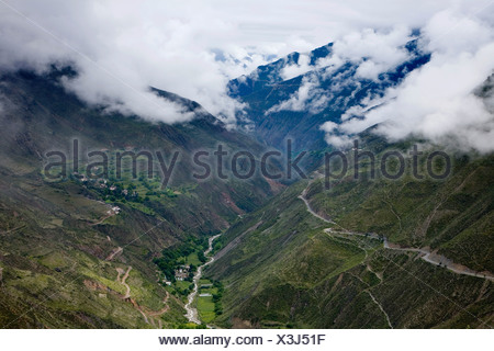Meili snow mountain,Yunnan province,China - Stock Photo