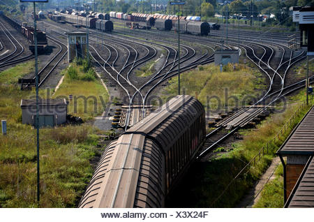 freight depot area - Stock Photo
