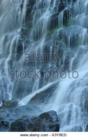 waterfall Schlei, Schleier Wasserfall in the Black Forest, Germany, Baden-Wuerttemberg, Black Forest - Stock Photo