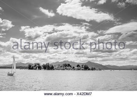 frauenchiemsee island,chiemgau,bayern,germany - Stock Photo