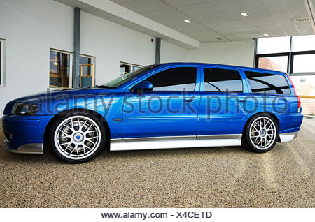 a very stylish and well groomed combi car - Stock Photo