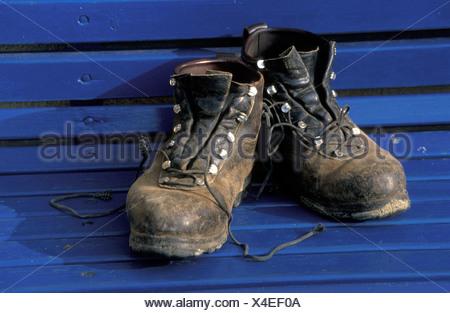 hiking boots - Wanderschuhe - Stock Photo
