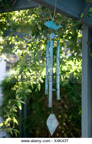 Wind Chime hanging, close-up - Stock Photo