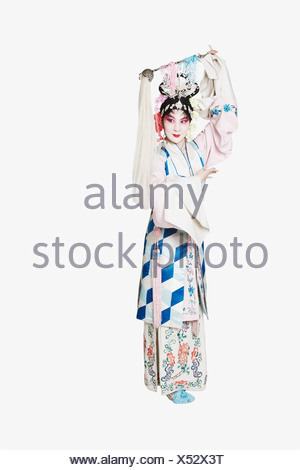 Mature woman wearing traditional clothing - Stock Photo