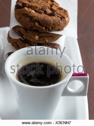 espresso and cookies - Stock Photo
