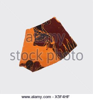 Fragment of a terracotta oinochoe: olpe (jug). Attributed to the Gorgon Painter; Period: Archaic; Date: ca. 580 B.C; Culture: Greek, Attic; Medium: - Stock Photo