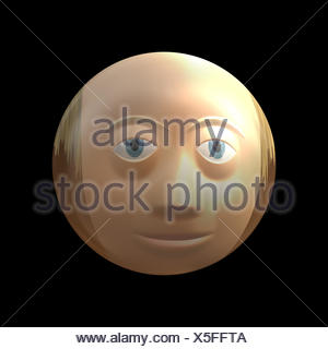 person face view throw a peeping hole - Stock Photo