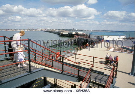 Pier Southend on Sea Essex UK - Stock Photo