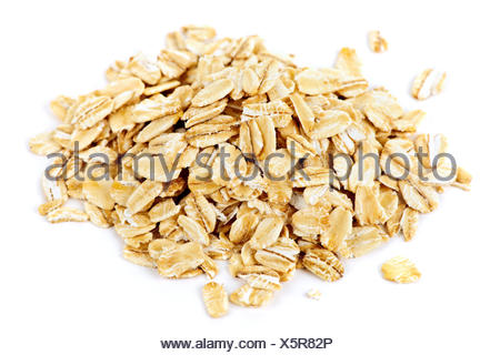 oats rolled organic - Stock Photo