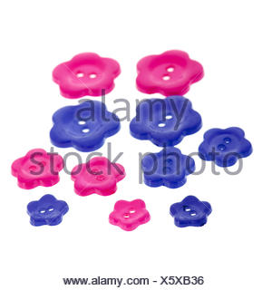 Several buttons in flower shape - Stock Photo