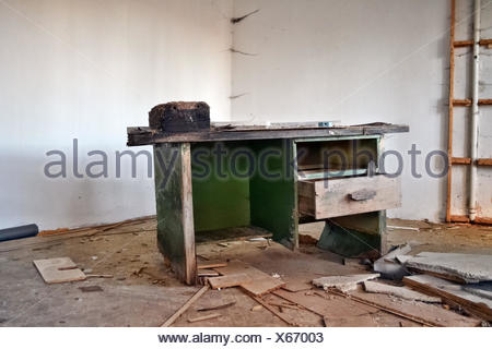 old tool bench - Stock Photo