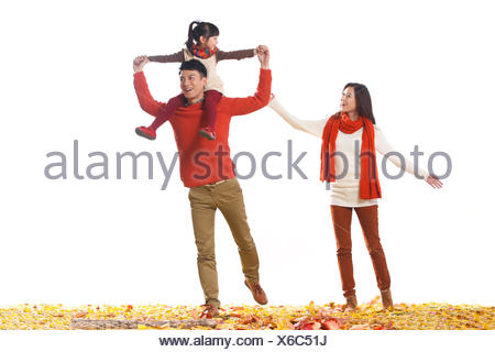 Portrait of Chinese family - Stock Photo