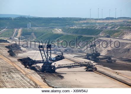 Grevenbroich, Germany, RWE lignite mining Garzweiler - Stock Photo