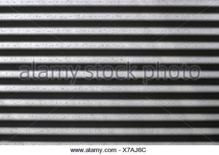 A close up shot of corugated iron - Stock Photo