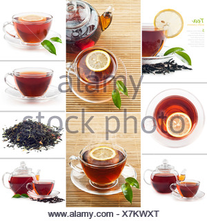 Hot black tea - Stock Photo