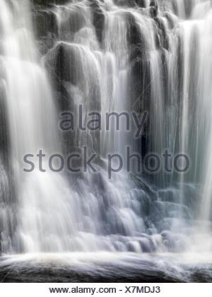 Ess-na-Crub waterfall, Glenariff Forest Park in Northern Ireland. - Stock Photo