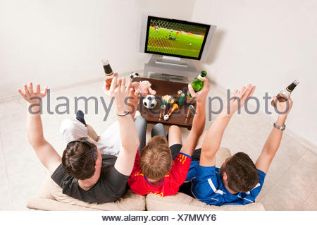 couch hooligans - Stock Photo