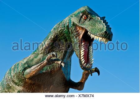 Replica of a dinosaur. - Stock Photo