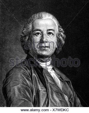 Gluck, Christoph Willibald, 2.7.1714 - 15.11.1787, German musician (composer), portrait, wood engraving, 19th century, Additional-Rights-Clearances-NA - Stock Photo