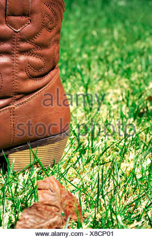 Boot on grass - Stock Photo